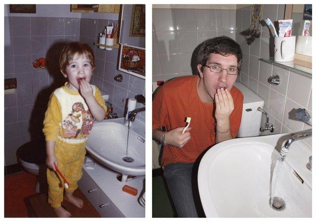 Mathieu DansUnDocument avantMaintenant salle bain brossage dent