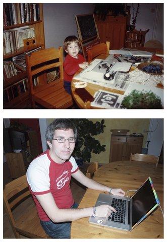 Mathieu DansUnDocument avantMaintenant macBook ordinateur machine écrire