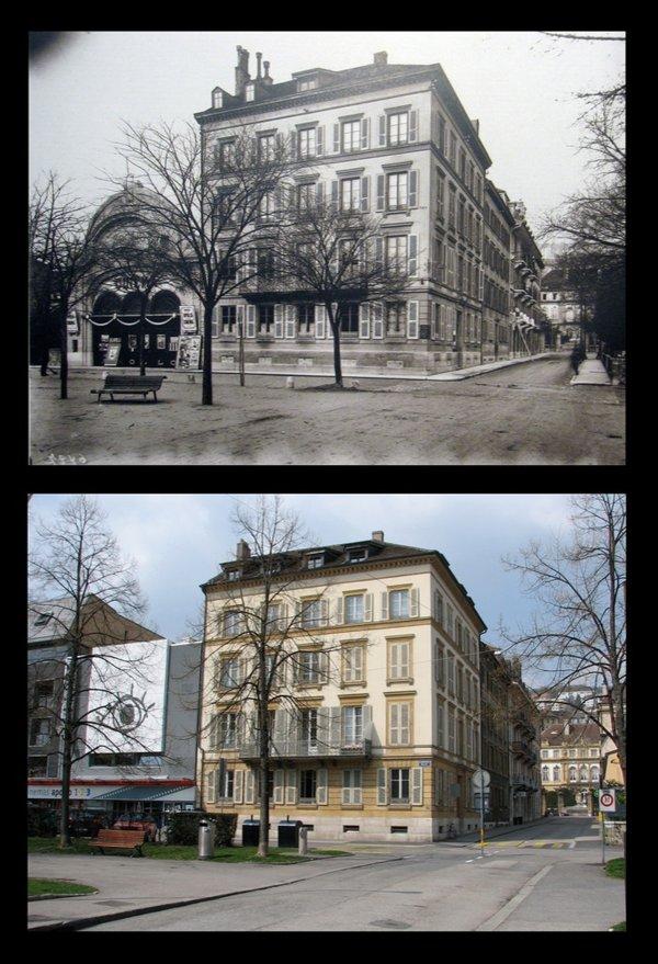 cinéma apollo vers 1900 et en 2009.jpg