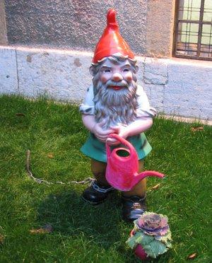 nain de jardin arrosoir