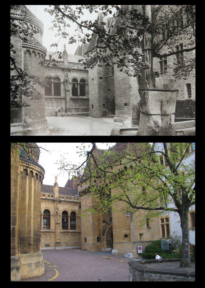 avant-maintenant entrée du chateau de Neuchâtel.jpg