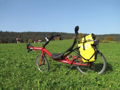 vélo couché hp speedmachine dans un champ.jpg