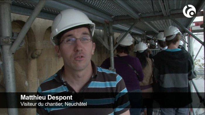 Mathieu Despont visiteur éclairé de la collégiale de Neuchâtel.jpg