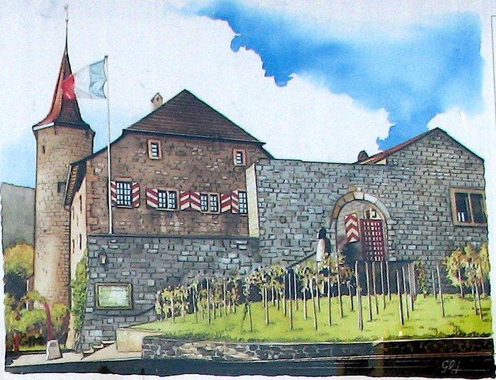 detail photo du château de Boudry faites par Martouf et transformée en peinture.jpg