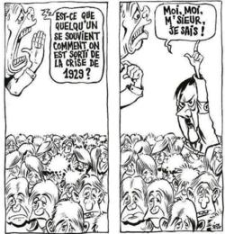 caricature comment sortir de la crise qui sait hitler.png