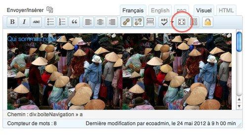 wordpress activer le mode plein écran.jpg