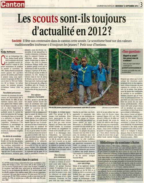 2012-09-12 une courrier neuchâtelois centenaire scouts boudry et neuchâtelois.jpg