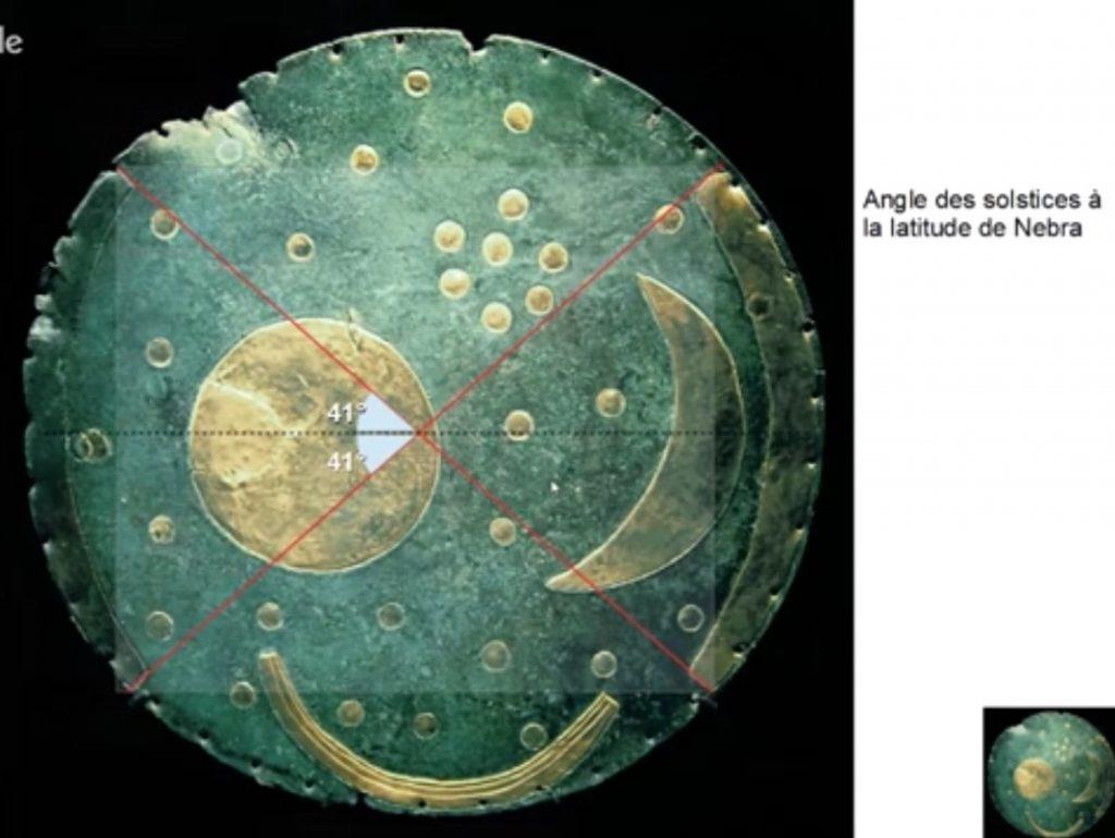 6-disque de Nebra NureaTV Howard Crowhurst angle solstice