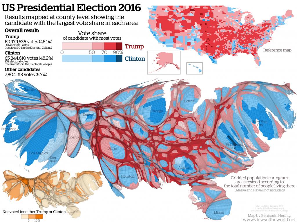 trump USelection2016Cartogram