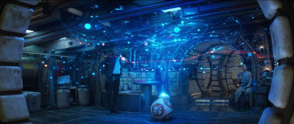 star wars effets spéciaux hologramme carte