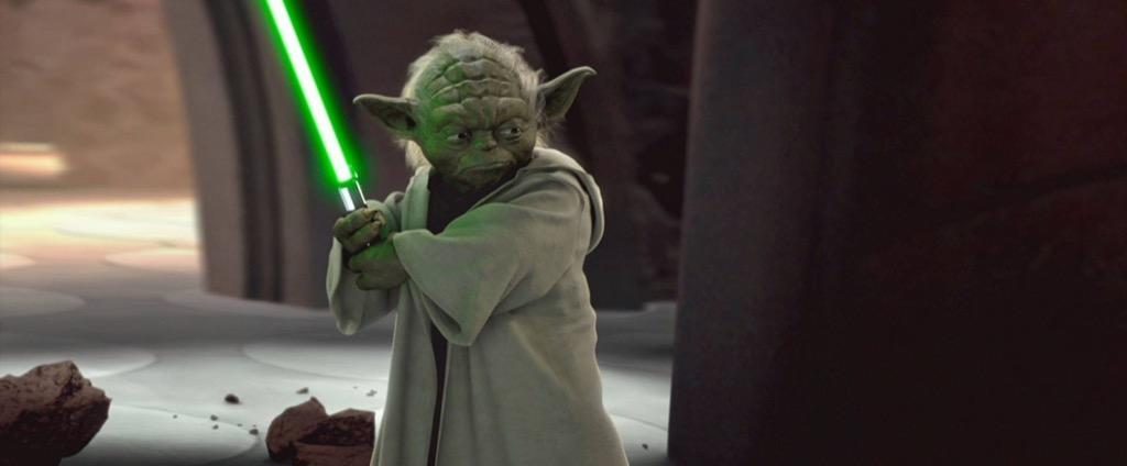 star wars yoda sabre laser