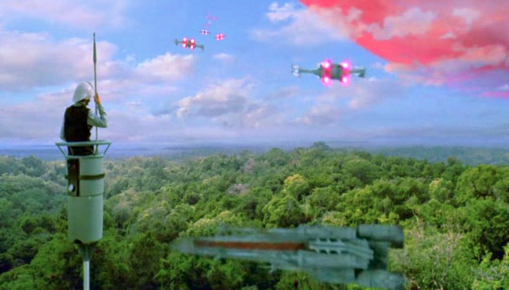 star wars vaisseau jungle vieux effets speciaux