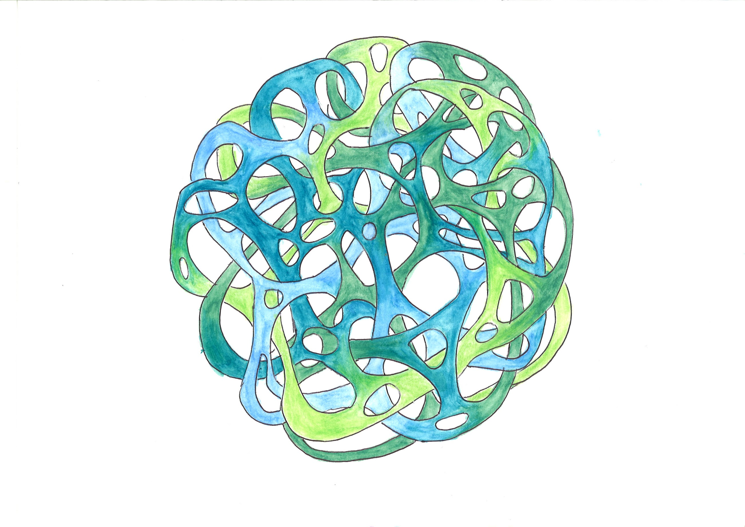 art brut structure martouf boule reseau vert