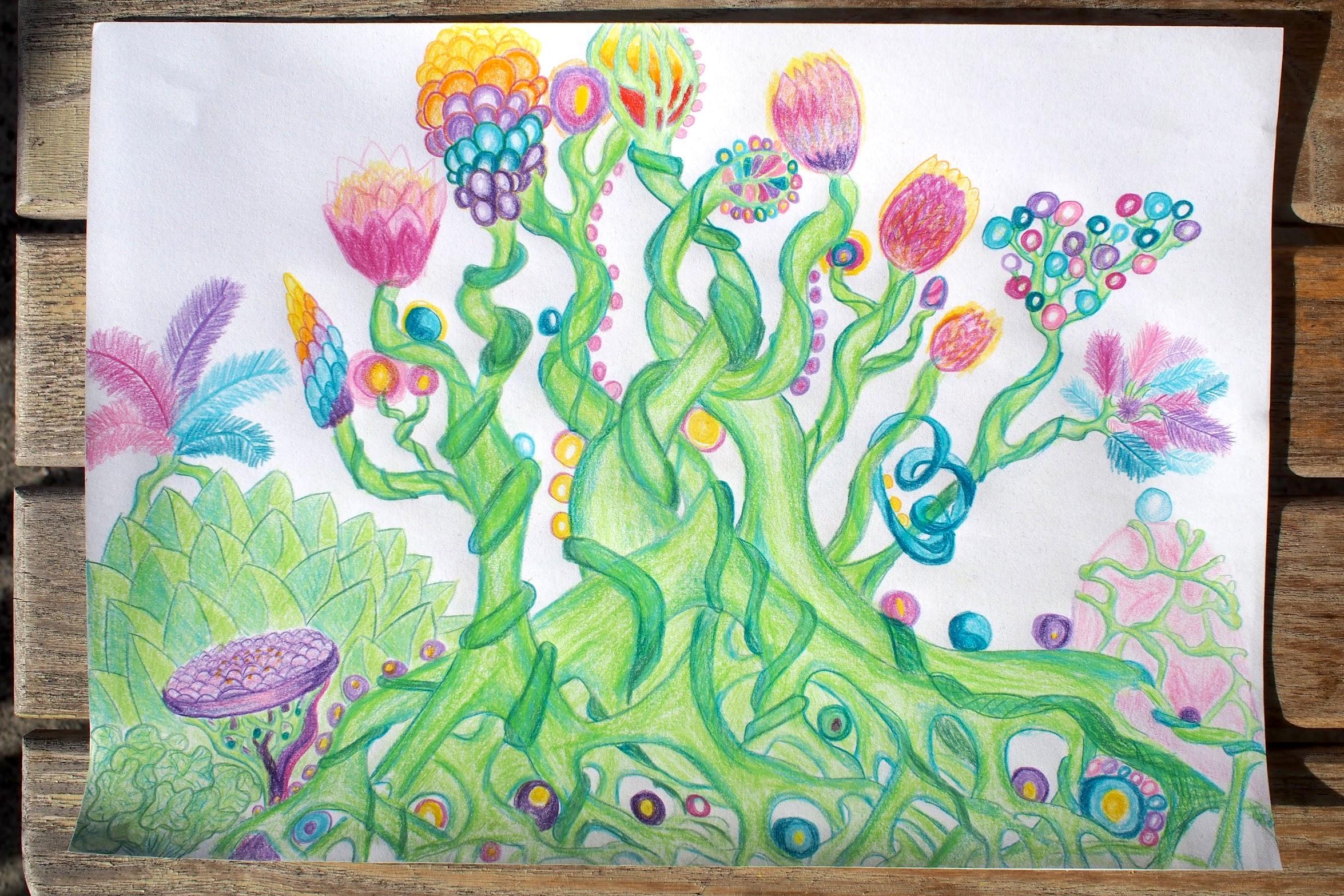 art brut structures vegetales fleur organique martouf
