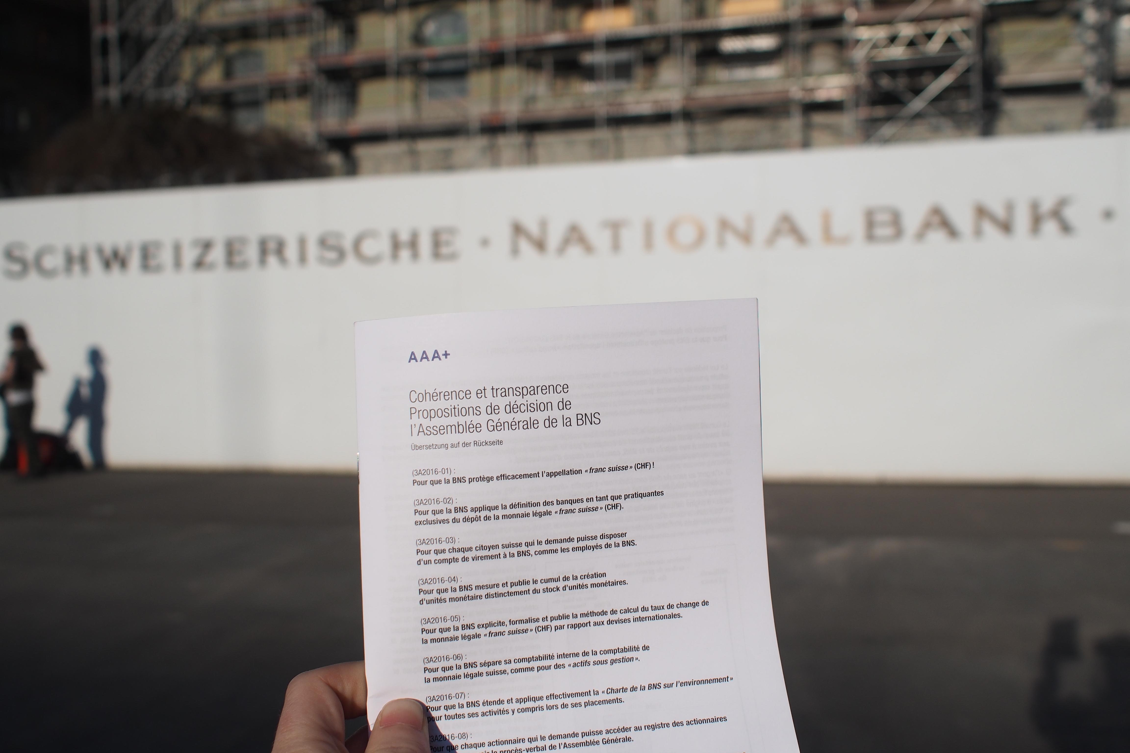 Banque Nationale Suisse Mur Et Aaa