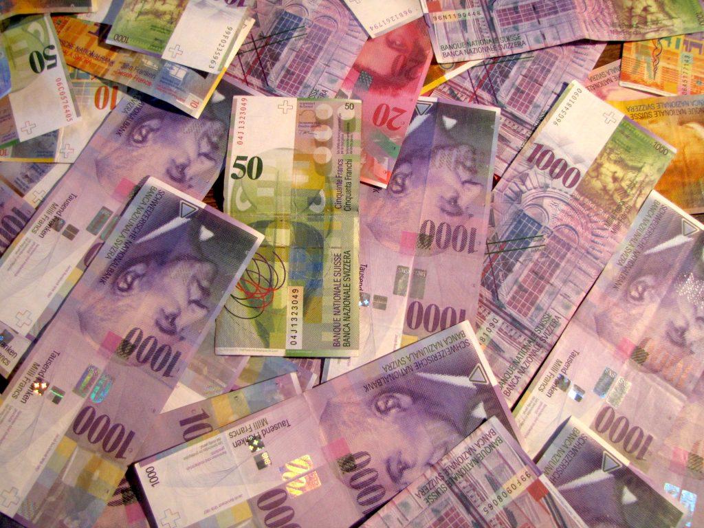 billet franc suisse mille impots