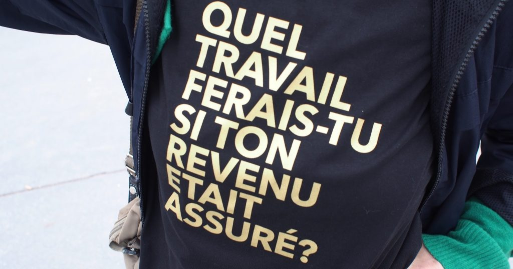 revenu de base inconditionnel revenu assure question t-shirt