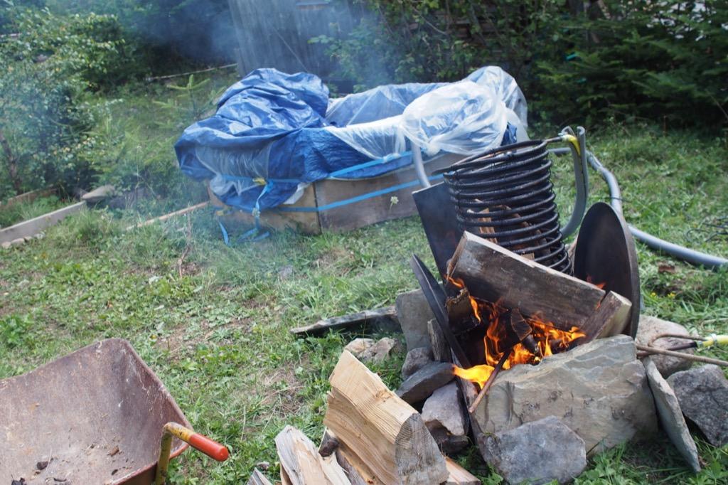 [DIY] Comment construire un jaccuzzi soi-meme chauffage au bois