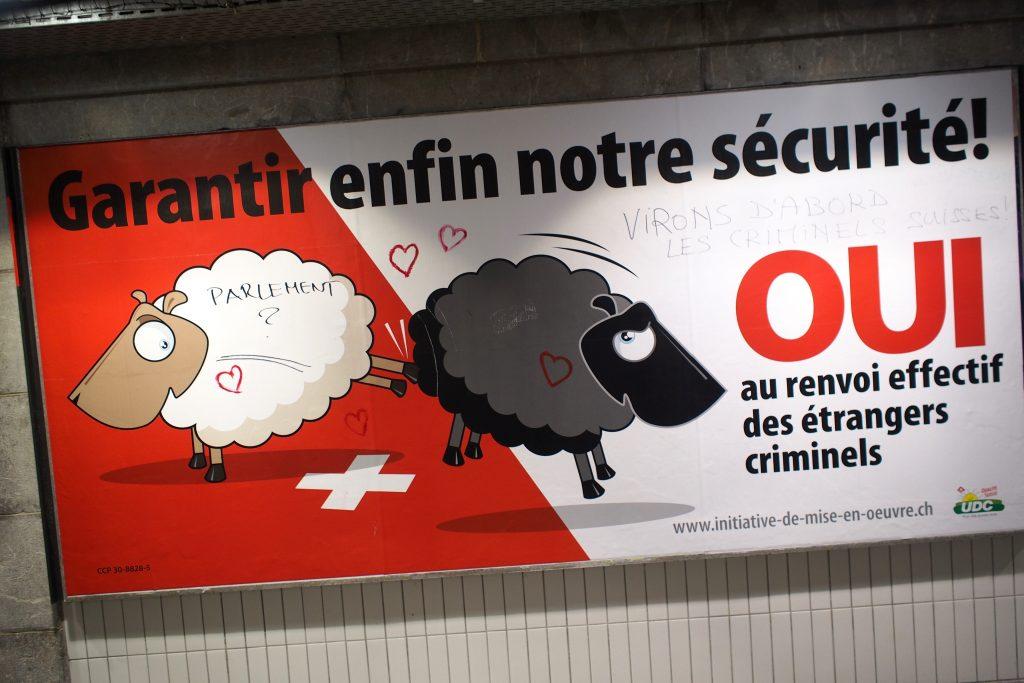 affiche UDC sécurite mouton