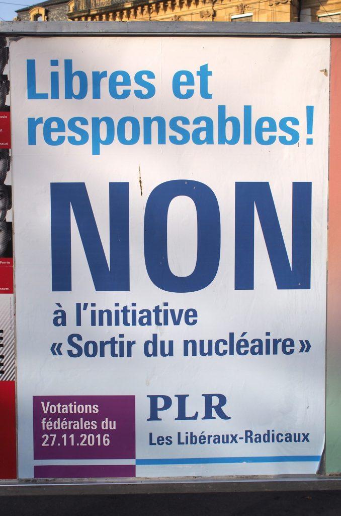 libre responsable plr affiche slogan nucleaire