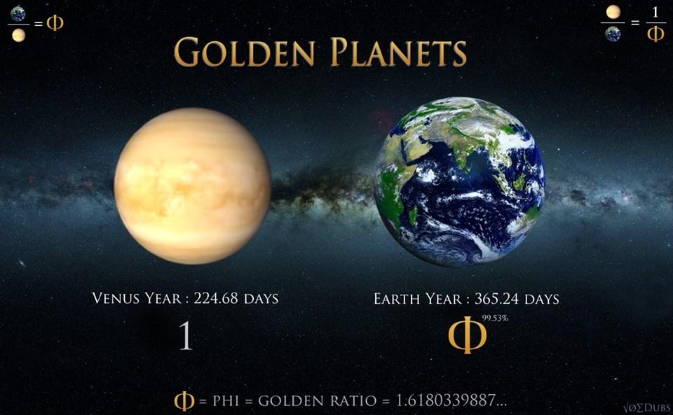 nombre d'or rapport révolution sidérale planètes