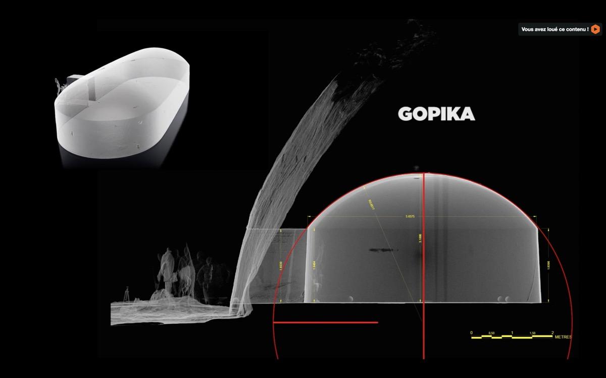 scan 3d grotte barabar gopika profile geometrie