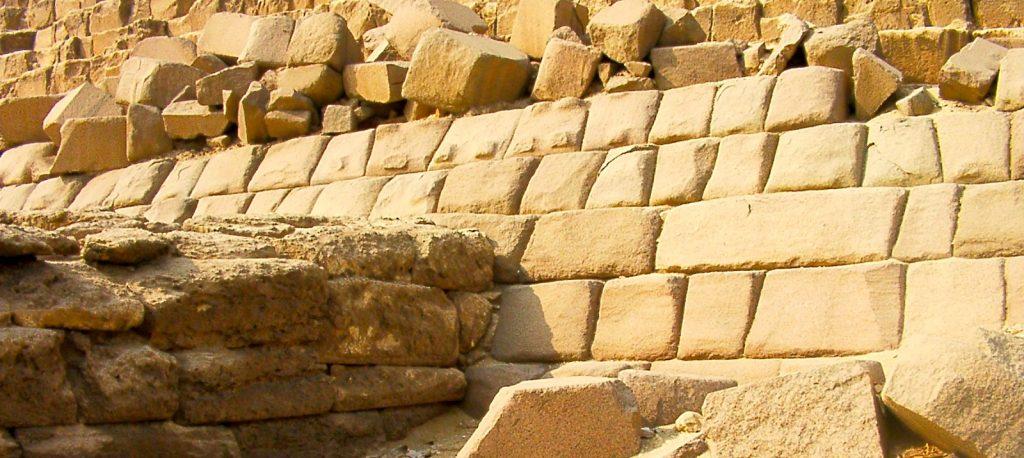 Menkaura_mykerinos granite bosse parement pierre
