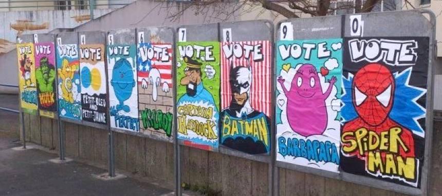 affiche élections héros art-urbain