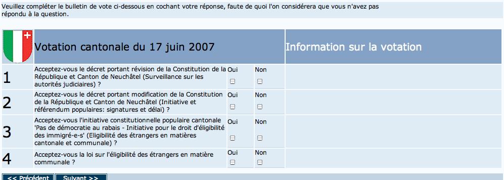 bulletin vote electronique 17 juin 2007