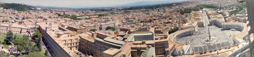 panorama rome le vatican musee place st-pierre obelisque cadran solaire