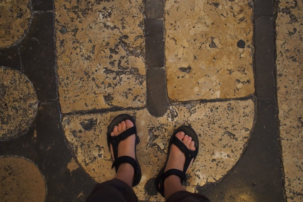 pieds de Martouf labyrinthe cathedrale chartres
