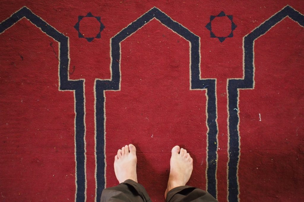 pieds de Martouf tapis mosquee caire