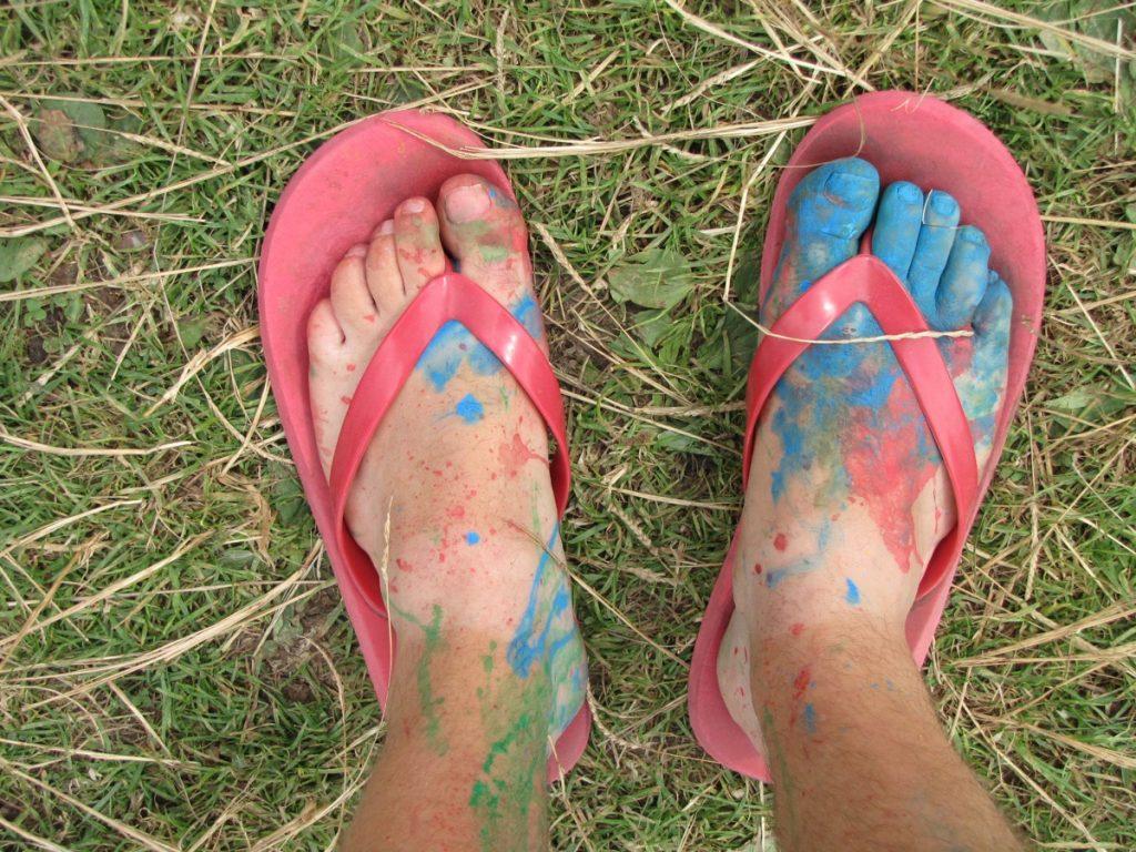 pieds de Martouf tong peinture couleur