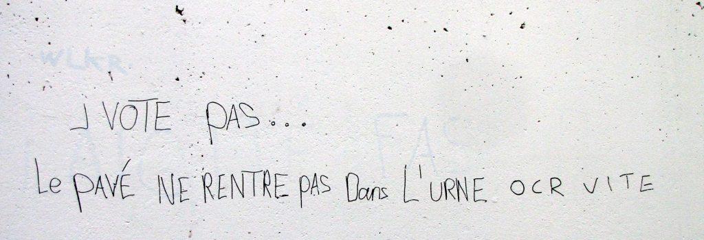 taux abstention votation art urbain graffiti