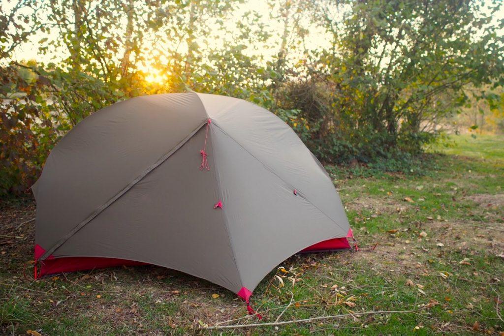 tente hubba hubba nx avis camping coucher soleil