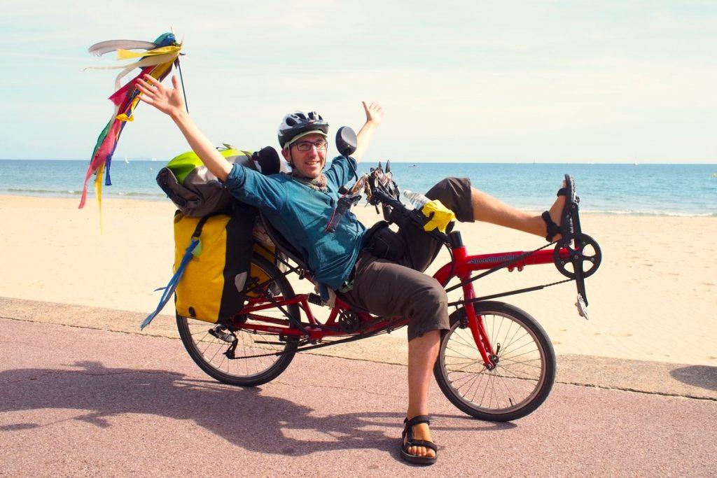 voyage à vélo couché martouf sand bank angleterre materiel sac bagage