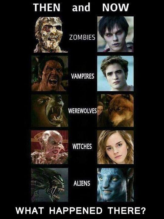 evolution vampire sorciere lougarou alien