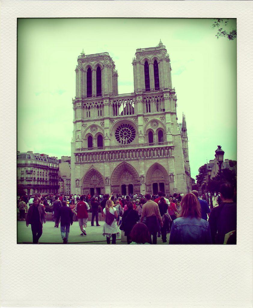 Cathédrale Notre Dame Paris polaroid structure H