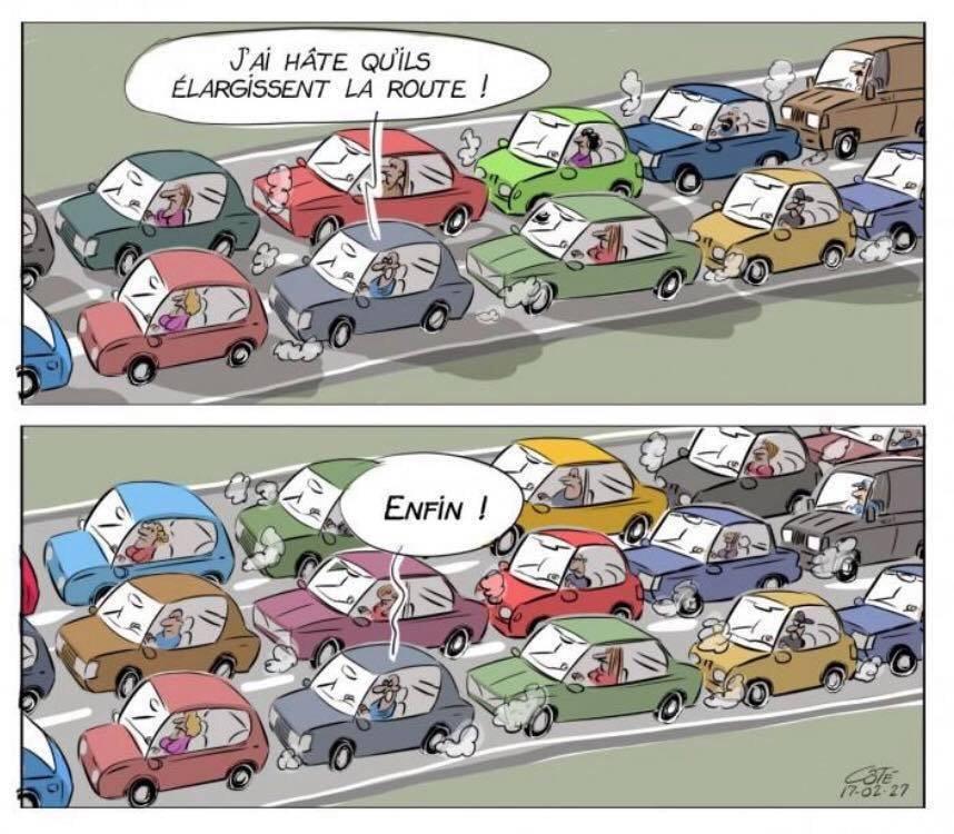autoroute saturée reseau congestion