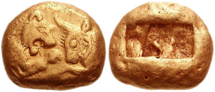 Pièce de monnaie du roi Crésus