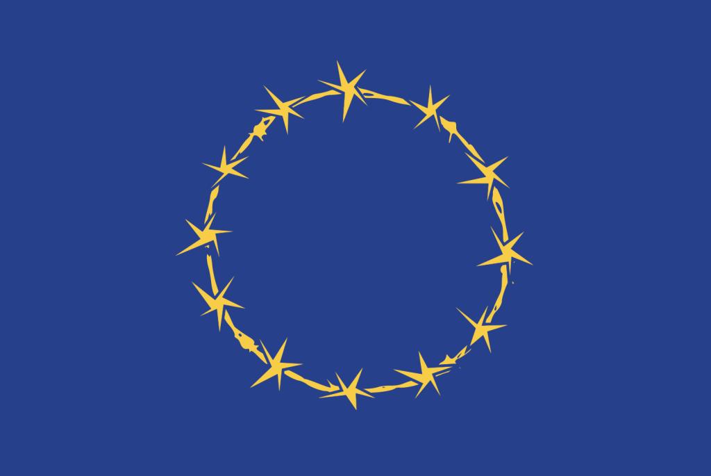 union européenne drapeau barbelé dicatature