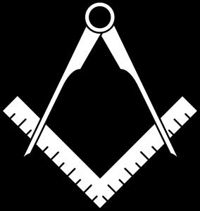 équerre et compas emblème franc maçon G