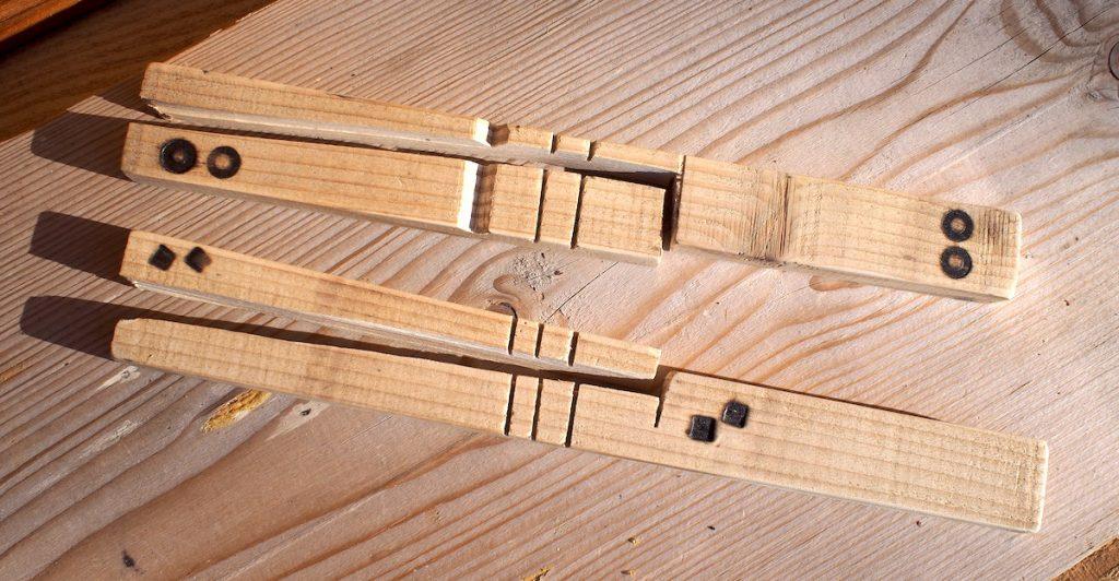 baton de comptage tally stick planchette marque famille pyrogravure