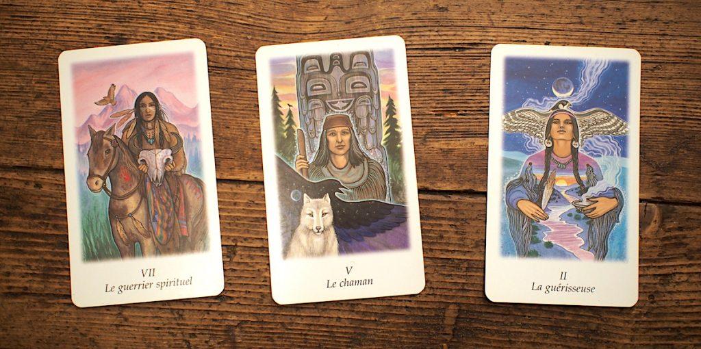 chaman guérisseuse guerrier spirituel carte tarot