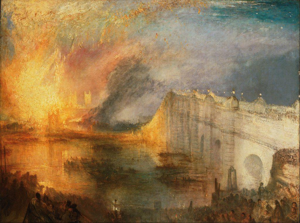 incendie de Westminster par Turner