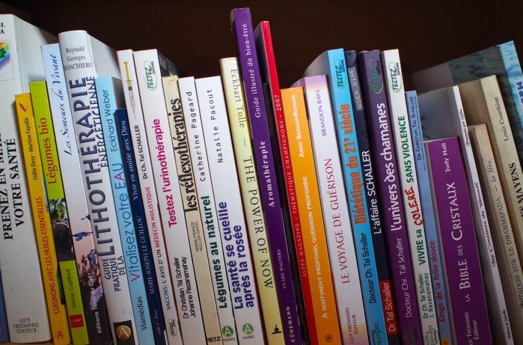 livres bibliothèque santé médecine alternative