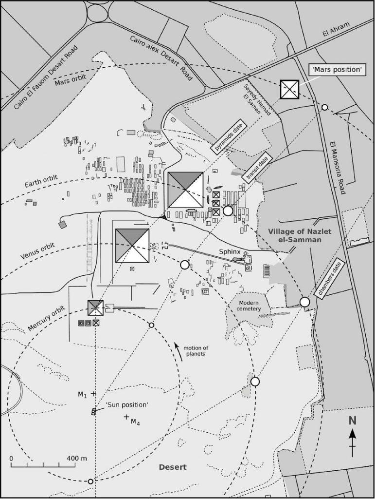 plan du plateau de gizeh planétarium