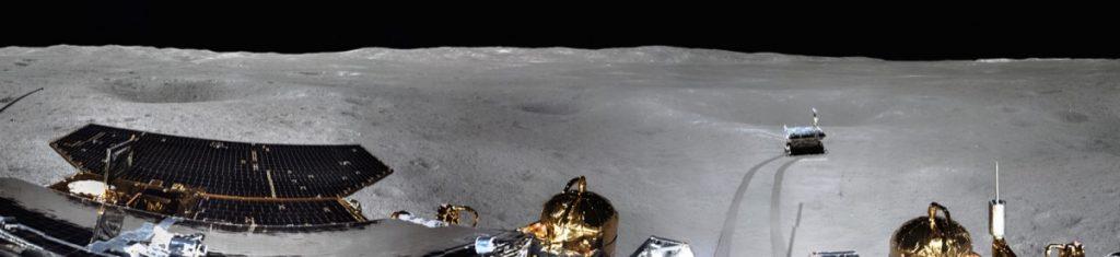 15 février 2019 Premier panorama de la face cachée de la lune avec le rover chinois