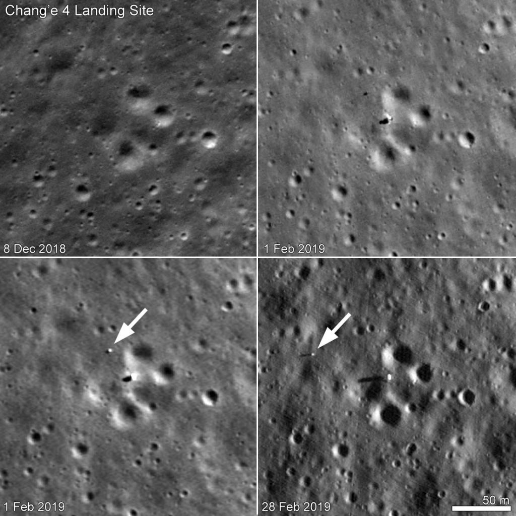 sonde lunaire chang e 4 avec son rover vu par LRO content_ChangE4_Feb_4panel_4release