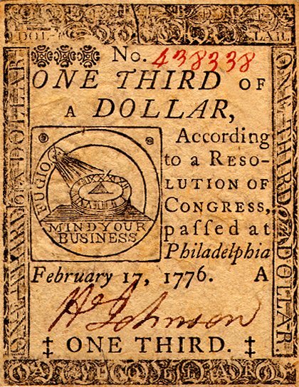 continental dollar benjamin franklin